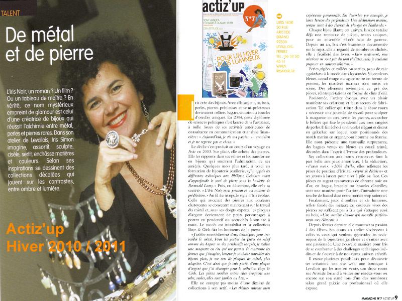 Portrait de la créatrice de bijoux Iris Simon (bijoux L'Iris Noir)