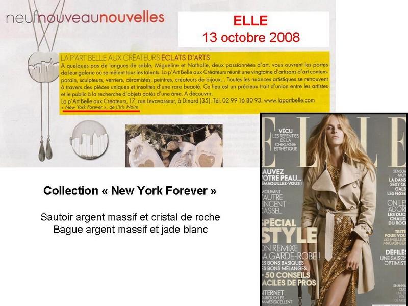 Article paru dans Elle en octobre 2008