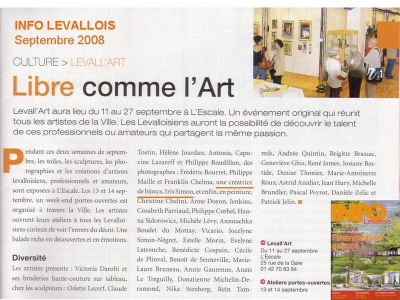 Iris Simon, créatrice de bijoux sous le nom de L'Iris Noir, participe à l'exposition Levall'Art de Levallois