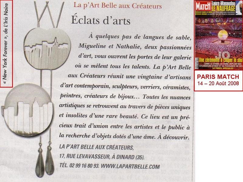 La boutique La P'Art Belle de Dinard présente les bijoux L'Iris Noir, signés par Iris Simon