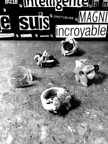Maquettes de cire de L'Iris Noir